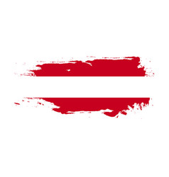 Grunge brush stroke with austria national flag vector