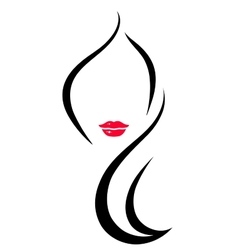 Hair salon icon with woman vector