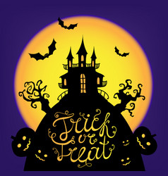 Halloween card poster trick vector