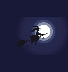 Halloween night background picture with flying vector