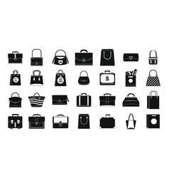 handbag icon set simple style vector image