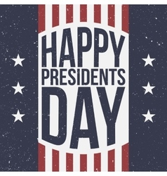 Happy Presidents Day patriotic Background vector