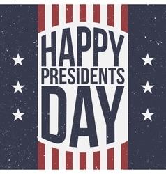 Happy presidents day patriotic background vector