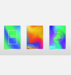 holographic abstract background set vector image