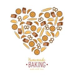 Homemade Baking emblem vector image