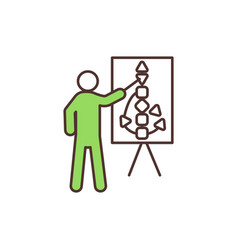 Human design course rgb color icon vector