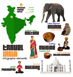 infographic elements for traveling to india vector image