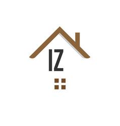 Initial letter iz building logo design template vector