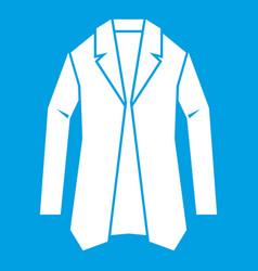 Jacket icon white vector