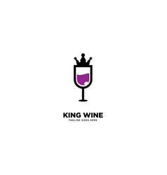 King wine logo template icon element vector