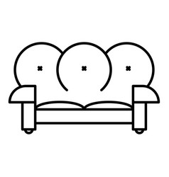 leather sofa icon outline style vector image