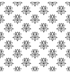 Lotus flower pattern seamless vector