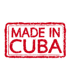 made in cuba stamp text vector image