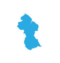 Map of guyana high detailed map - guyana vector