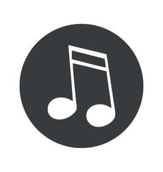 Monochrome round 16th note icon vector