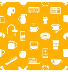 Morning wake up theme yellow seamless pattern vector
