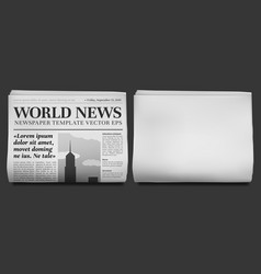 Newspaper headline mockup business news tabloid vector