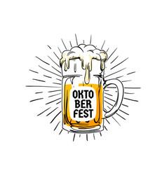 oktoberfest vintage logo badge munich beer vector image
