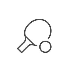 Ping pong inventory line outline icon vector