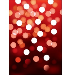 Red festive lights background vector image