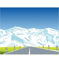 Road in mountains vector