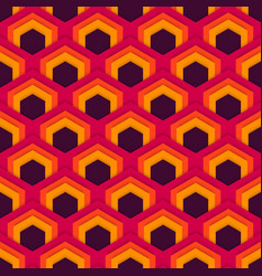 seamless abstract pattern of hexagons in vector image