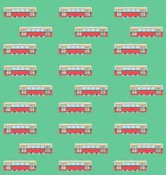 Seamless pattern with retro tram vector