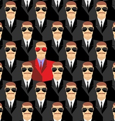 Secret agents A spy among agents Seamless pattern vector