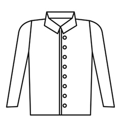 Shirt icon outline style vector image