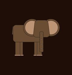 Silhouette of an elephant vector