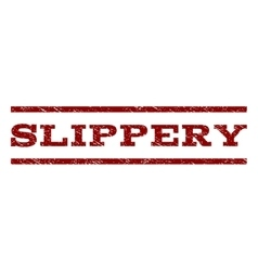 Slippery Watermark Stamp vector