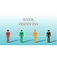 Social distancing concept prevent covid-19 vector