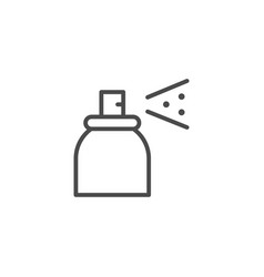 spray can line outline icon vector image