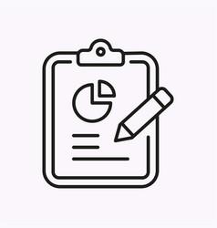 statistics line icon on white background vector image