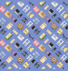 telephones icons tools sealess pattern vector image vector image
