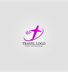 travel logo template logo for business corporate vector image