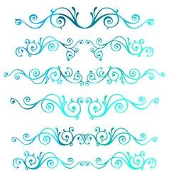 Vintage ornamental frames Blue calligraphic winter vector image vector image