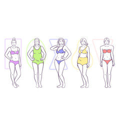 woman body shape vector image