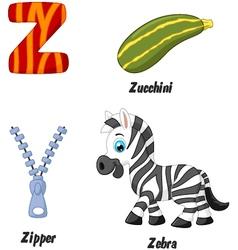 Z alphabet vector