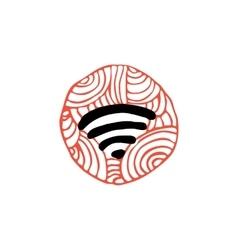 Zentangle icon wifi vector