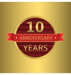 Anniversary 10 years vector image vector image