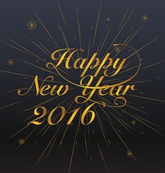 New year 2016 Greeting Card Typography postcard vector image