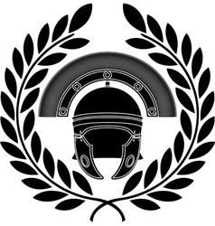 roman helmet stencil third variant vector image vector image