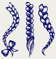 Women braid vector image vector image