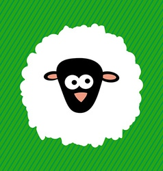 2015 New Year Cartoon Sheep on Green Background V vector image vector image