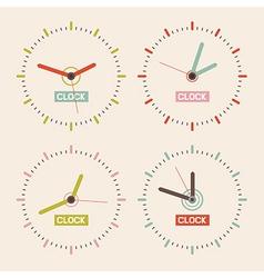 Abstract retro clock set vector