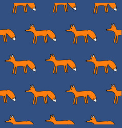 cute fox seamless simple pattern vector image