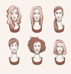 Four Races Woman vector image vector image