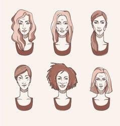 Four Races Woman vector image