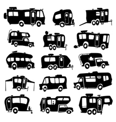 Recreational Vehicles Icons vector image vector image